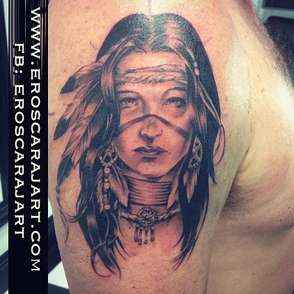 Indian Girl Tattoo  #Brisbane #Tattoo #Artist #Tattooist