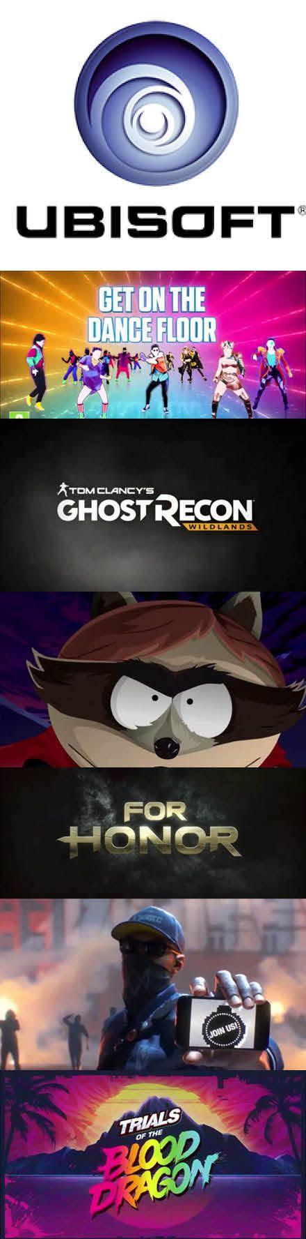 #E3 #Ubisoft Recap #SouthPark #WatchDogs #ForHornor #GhostRecon http://www.levelgamingground.com/ubisoft-e3-2016.html