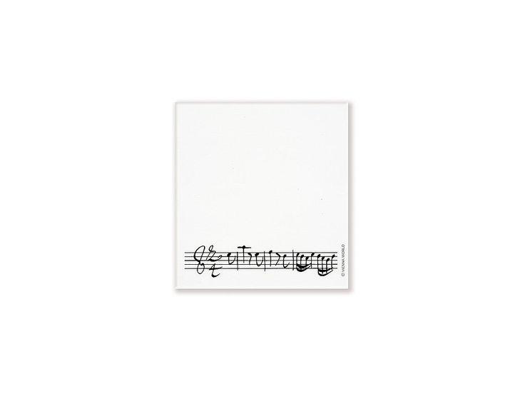 Lepící poznámkový bloček s partiturou - HUDEBNIKUM.CZ