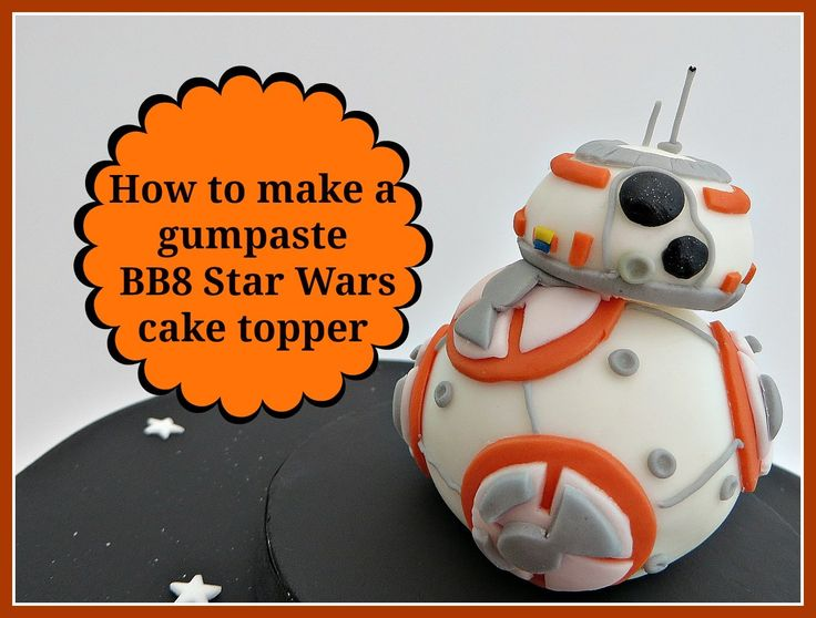 How to make a gumpaste BB8 Star Wars cake topper
