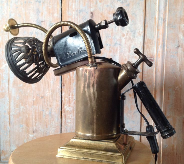 Batrhel Steampunk gasbrander lamp - 95,-