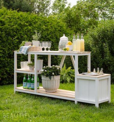 DIY Summer party outdoor bar (free woodworking plan) // Vintage nyári kerti parti állomás fából italhűtővel (ingyenes tervrajzzal) // Mindy - craft tutorial collection