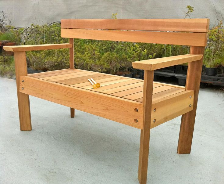 The 25 best Outdoor wooden benches ideas on Pinterest Wood