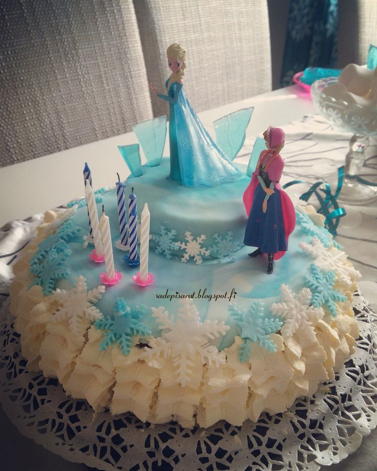 Frozen kakku, Frozen cake, Frozen synttärit, Frozen birthdayparty