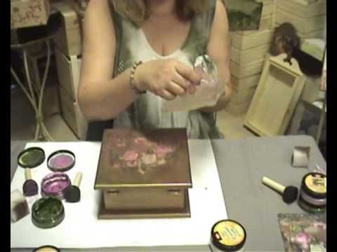 DIY Jewelry Box Upcycle Chalk Paint transfer decoupage - YouTube