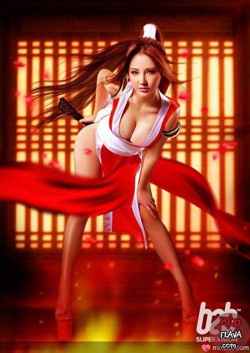 Sexy Cosplay girl Mai Shiranui