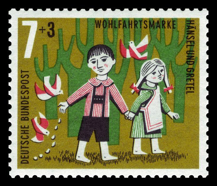 Art - Stamp Art - German - Brothers Grimm, Hänsel und Gretel leaving trail | Flickr - Photo Sharing!