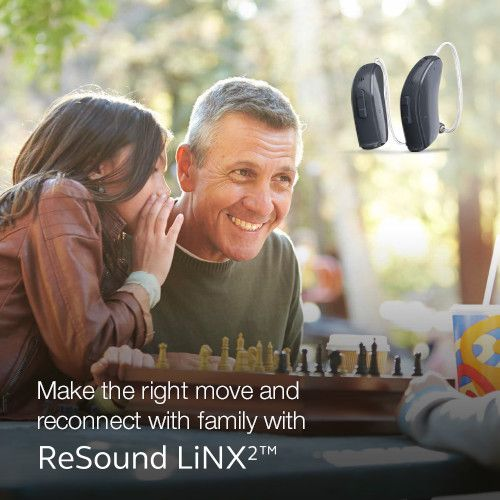 Make the right move and reconnect with family with LINX2 Visit resound.com/en-AU/hearing-aids/linx2