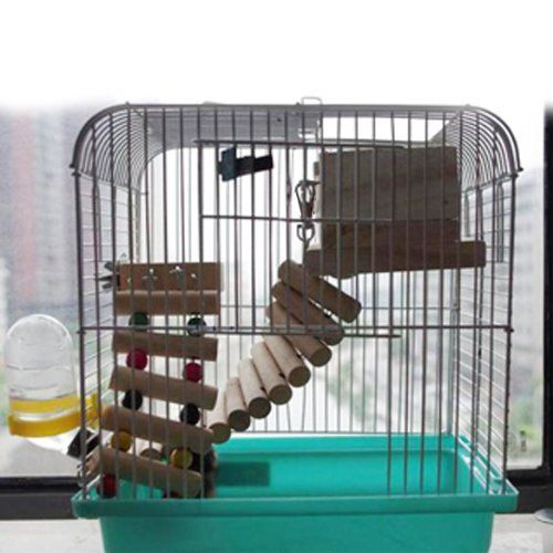 Mouse Hamster Parrot Flexible Wooden Toys Hanging Ladder Bridge Cage In Cages Accessories From Home Garden On Aliexpress C Hanging Ladder Hamster Bird Toys