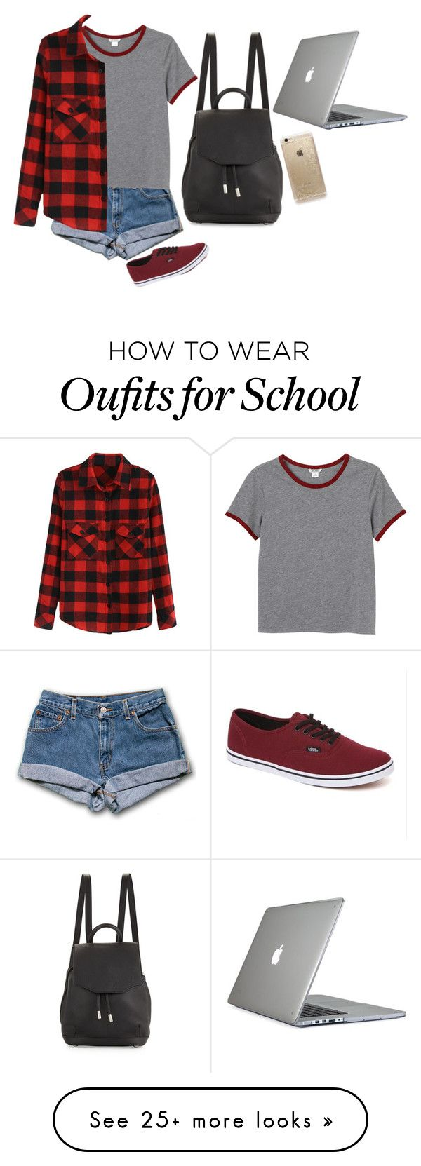 """""""School"""" by vintage38 on Polyvore featuring rag & bone, Vans, Monki, Speck and Rifle Paper Co"""