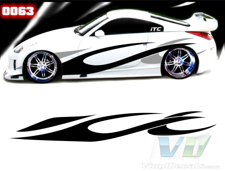Best Car Side Racing Stripes Decals Stickers Images On - Custom decal graphics on vehicles