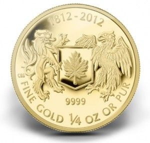 2012 $10 War of 1812 Canadian Gold Coin