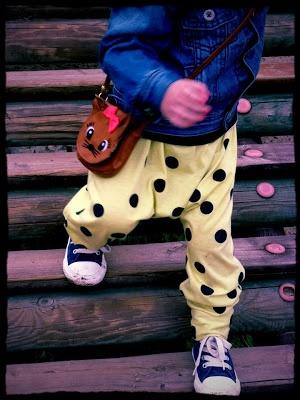 polka dot toddler harem pants