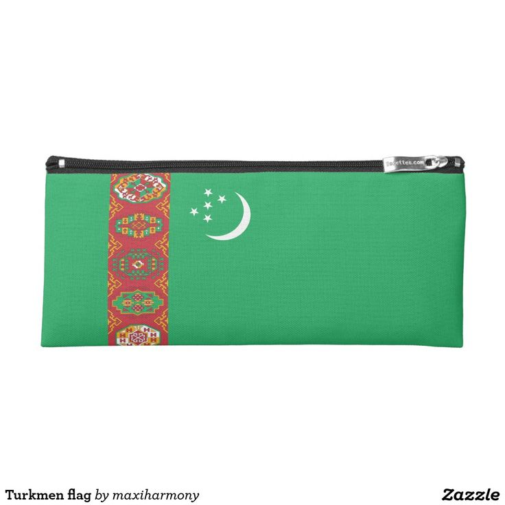 Turkmen flag pencil case