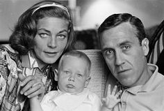 Lauren Bacall with her second husband Jason Robards Jr and their son Sam