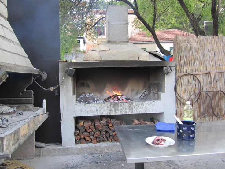 2012 August Croatia - this oven was used by the restaurants to cook food for 3 hours; the smell was georgeous
