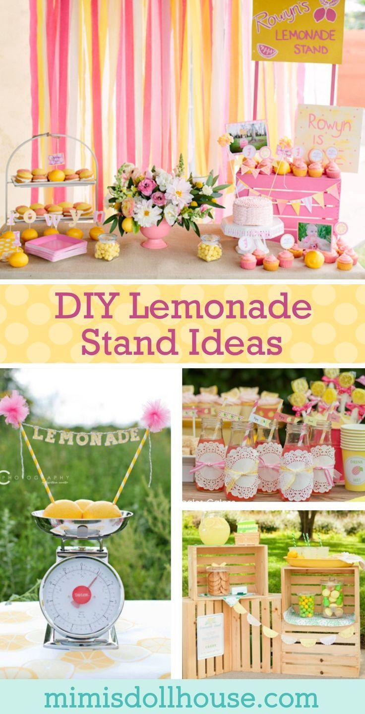 Limonadenstand: 10 Ideen für DIY-Limonadenstand