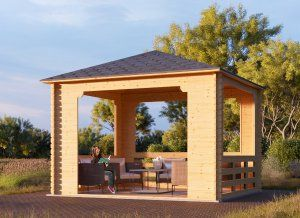 1000 ideas about tonnelle 3x3 on pinterest pergola toile retractable tera - Tonnelle adossee bois ...