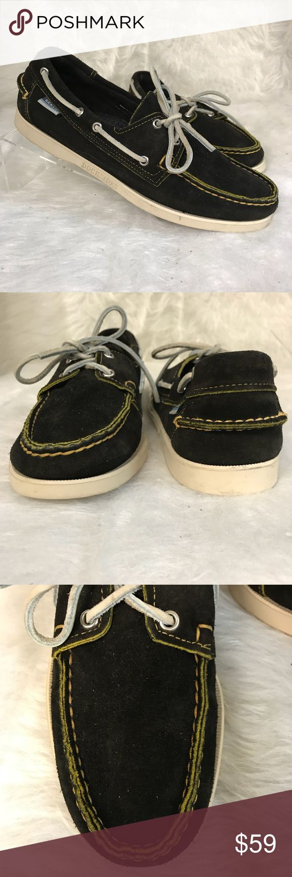 Sebago Dockside suede loafers style 72882 Dark brown suede leather shoes. New and unworn Sebago Shoes Loafers & Slip-Ons