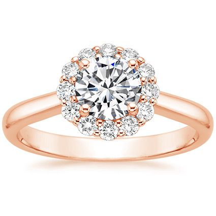 LOVE..but I would love white gold.14K Rose Gold Lotus Flower Diamond Ring from Brilliant Earth