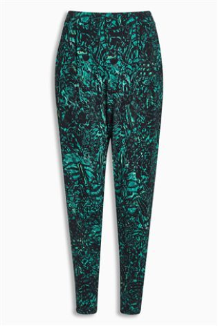 Green Tapered Leg Trousers