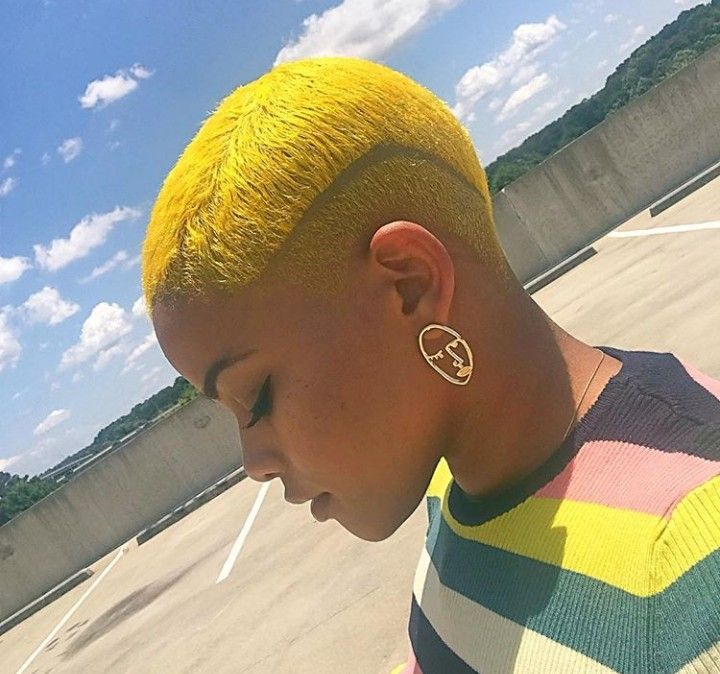 Yes This Yellow In 2020 Hair Styles Short Natural Hair Styles Bald Hair