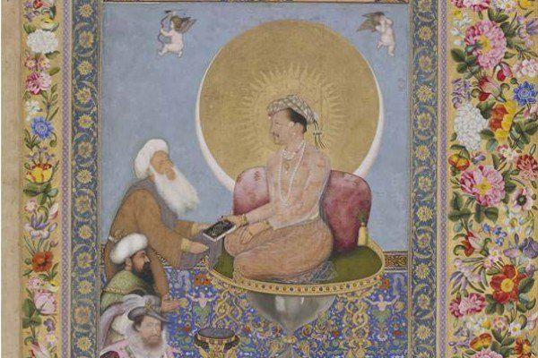 2.1.2. Jahangir, el cuarto Emperador Mogol, reinó de 1605 a 1627. Fue, como su padre, muy tolerante en asuntos religiosos. https://global.britannica.com/biography/Jahangir  Imagen: Jahangir y un santo sufí