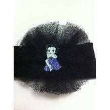 paper faces Betty Boop Aksesuarlı, Siyah Tütü Çiçek, Bebek Bandı