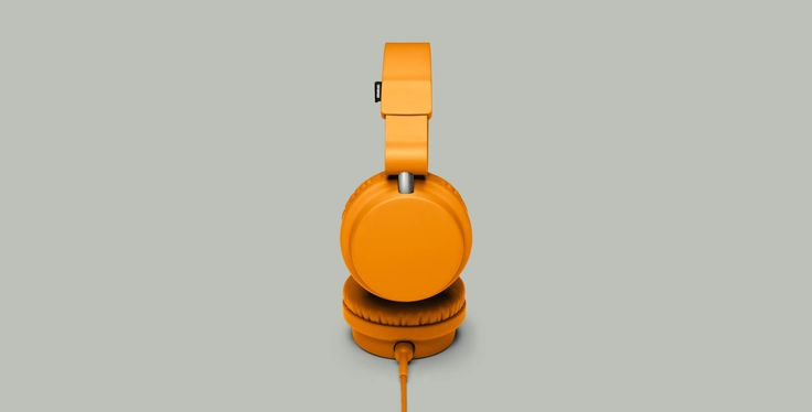 Urbanears Zinken headphones in Bonfire Orange