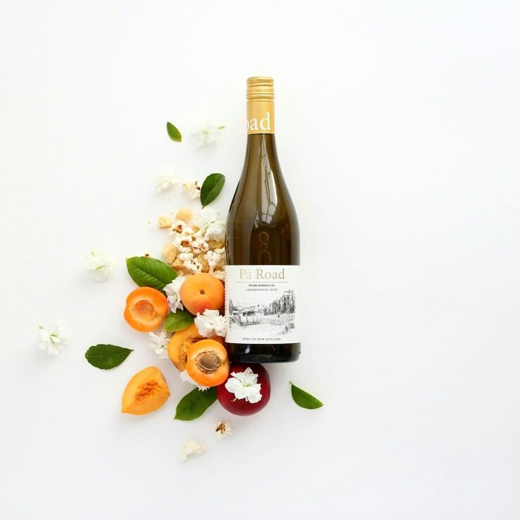 Ingredient flat lay for Te Pa wines, showcasing the flavour profile of their Chardonnay