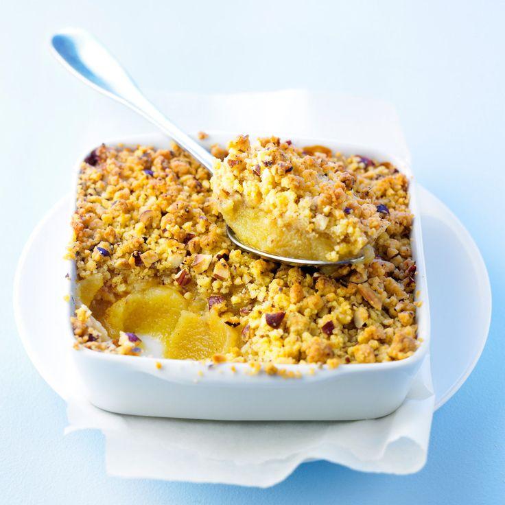 Découvrez la recette de la purée d'ananas au crumble