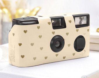 10 Disposable Cameras Wedding Favor Heart by LoveandLuxeHandmade