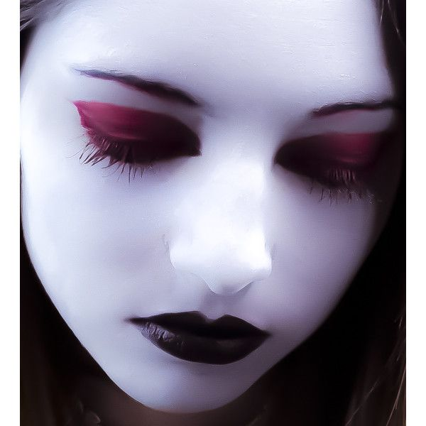 Blood Red Gothic Mascara Eye Lash Enhancer Cosplay Makeup ❤ liked on Polyvore featuring beauty products, makeup, eye makeup and mascara
