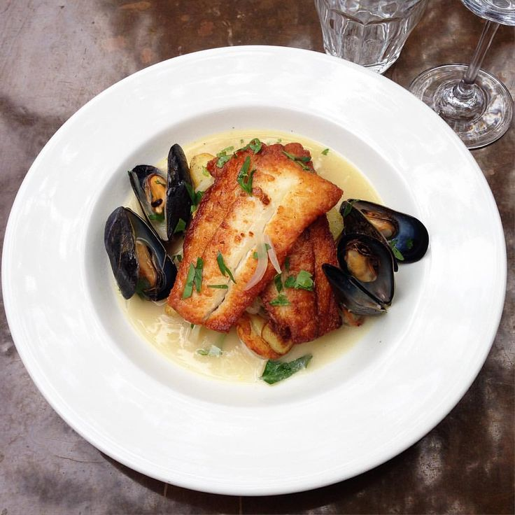 """Flounder w/ Mussel & Cider Sauce"", Chez Nous Charleston"