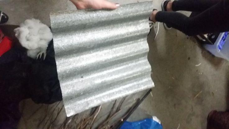 corrugated iron squares