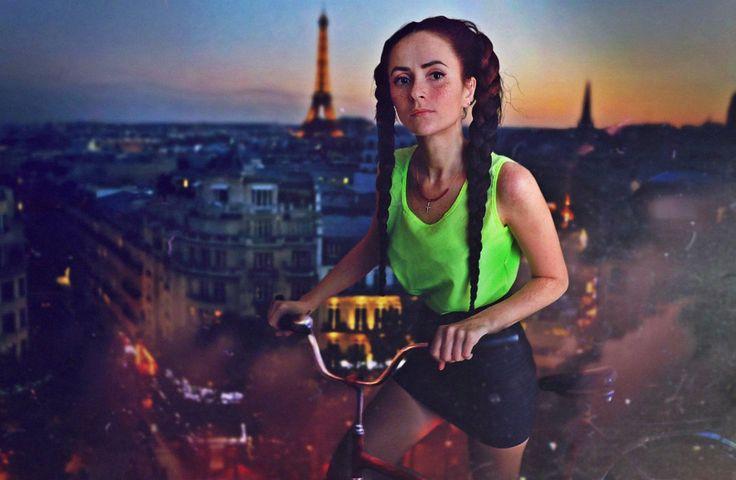 #photomanipulation #cloudrider #Paris_vu_du_Ciel