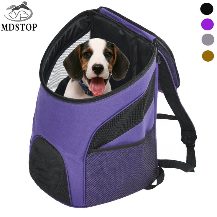 MDSTOP Cheap Pet Backpack Carrier Dogs Cats Rabbits Mesh Breathable Pack Portable Travel Bag Transport Cage for Small Medium Dog