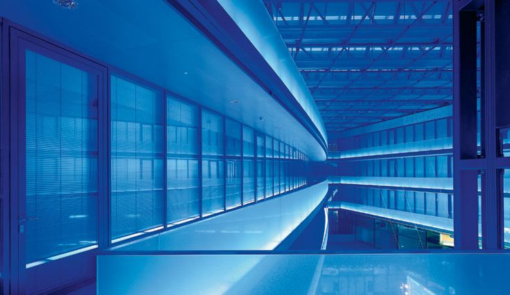 #interior #ilr #rgb #blue #bahnzof #public #transport #linear #uplight #wash #atrium