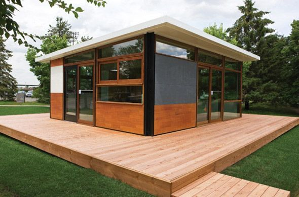 flatpak1 - FlatPak is a modular prefabricated system for residential architecture designed by Minneapolis-based Lazor Office.