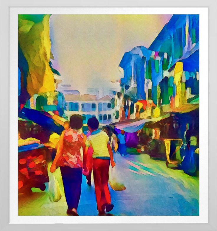 'Singapore Scene' - Watercolour Art Print.  Original watercolour art by Roger Smith. rReproduced on Archival Heavyweight Paper https://www.zazzle.com/singapore_scene_watercolour_art_print-228944051559132431 #Singapore #art #prints #RogerSmith #watercolor #watercolour