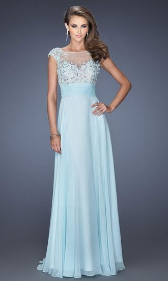 A-line High Neck Chiffon Formal Dresses/Long Evening Dresses with Appliques Beading FAU1404P800267