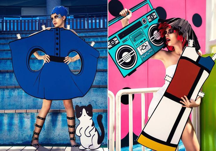 Real-Life Paper Doll with 9 Paper Cutouts Inspired by Iconic Fashion Designs – Fubiz Media