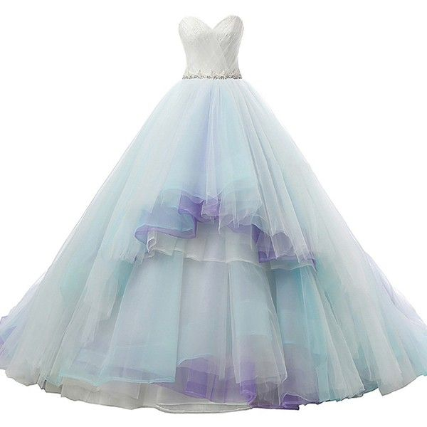 Kivary Ivory Aqua Light Purple Long A Line Lace Crystals Corset Prom... (245 CAD) ❤ liked on Polyvore featuring dresses, blue, long blue dress, long lace dress, a line dress, a line prom dresses and blue lace dress
