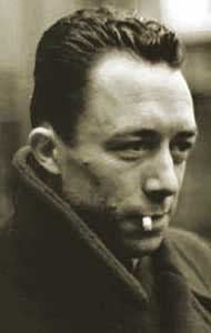 Picture of Albert Camus, author of The Plague, L'Etranger (The Outsider, The Stranger), and The First Man; twentieth century French Literature