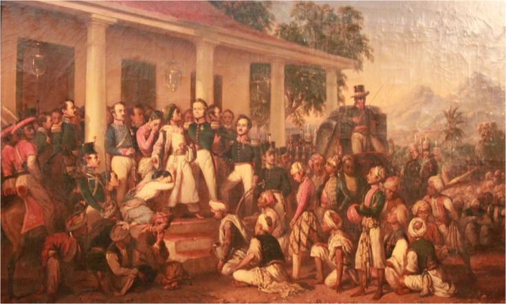 Lukisan yang berjudul asli Gefangennahme Diepo Negoros atau Penangkapan Diponegoro ini dibuat oleh Raden Saleh pada tahun 1857, dua tahun setelah wafatnya sang pahlawan di Benteng Rotterdam, Makassar, 8 Januari 1855.  Lukisan berukuran 112 x178 cm tersebut merupakan salah satu lukisan termahal di Indonesia.