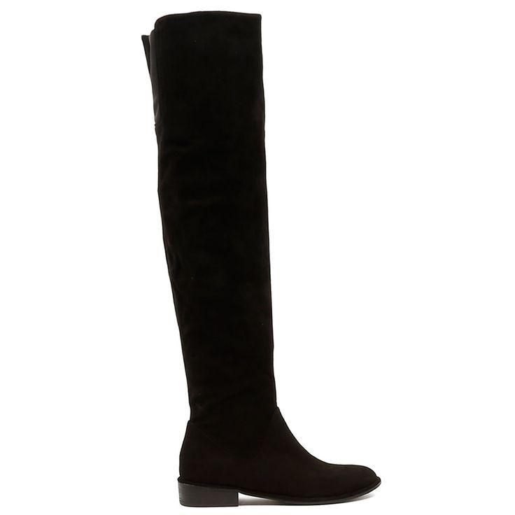 LANSEL by Top End. As the weather cools down it's time to up the tempo on boots! Whether for work or play this beautifully soft suede over the knee high boot will work wonders with boho dresses and skinny jeans. 3cm heel. Leather upper, leather lining.Manmade sole.