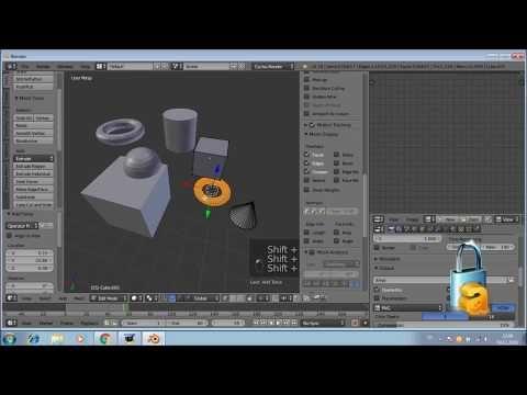 Blender3D 4 Kısayol tuşları 3 - YouTube