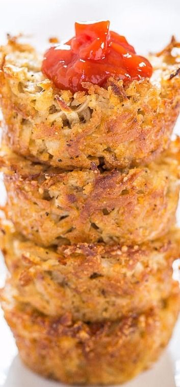 Baked Parmesan Hash Brown Cups - Averie Cooks