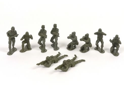 New-Ray NRAM001 American Infantry Plastic Toy Soldier Bag of 10