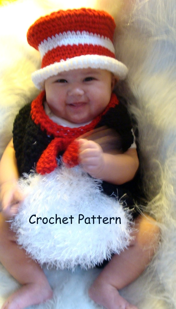 Cottage snuggle sack and hat crochet baby baby cocoon and sacks - Infant Black Cat Wearing A Red And White Hat Costume Crochet Pattern Pdf 476 5 95